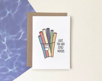 Send Noods - Greeting Card
