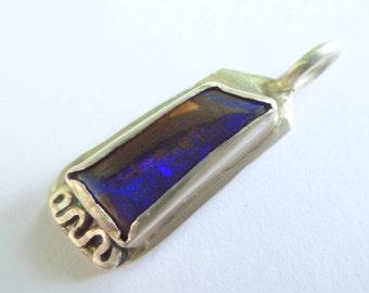 Australian Boulder Opal Pendant (.999 Fine Silver)