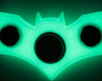 Glow in the dark Batman Spinner (One handed gyrating spinning, new and improved!)