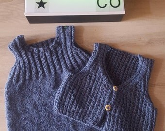 Jumpsuit and vest set