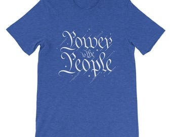 Power to the People Tees  | Patriotic | US Constitution | Q-Anonymous | Unisex Bella Canvas Short-Sleeve Gift T-Shirt