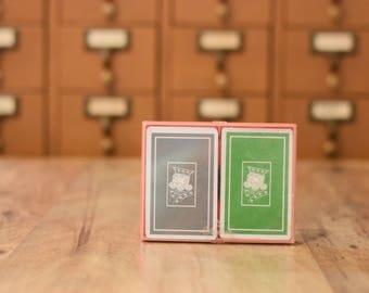 Vintage Hallmark Bridge Playing Cards Burpee's Finest
