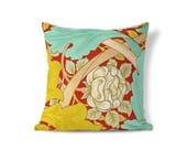 Rose Flower Pillow - William Morris Pillow - Victorian Pillow - Floral Pillow Sham - Accent Pillow - Textured Pillows - Throw Pillow Cover