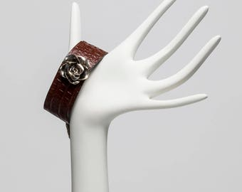 Rose Leather Band