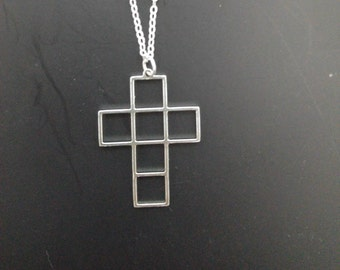 Cross necklace sterling silver designed cross necklace special cross necklace cross charm necklace boxes necklace cross