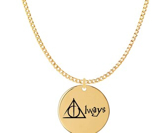 Handmade 18k Harry Potter Necklace – Harry Potter Pendant – Harry Potter Themed Gifts For Teens & Adults - Harry Potter Novelty Gifts