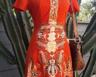 Vintage Indonesian Batik Dress