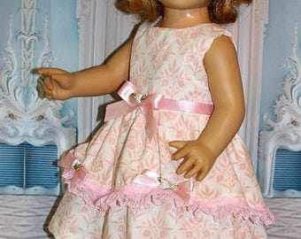 "2 Piece Set fits 20"" Tall Talking Chatty Cathy Size Dolls. Dress & Hat. Vintage Toy Doll Clothes. Handmade in the USA.  Pink Dress."