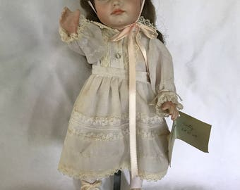 "14 inch Bisque Doll ""Pouty"