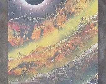 "Eclipse | 22"" x 15"" Spray Paint Art"