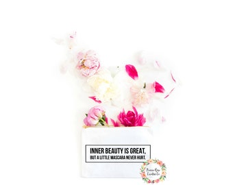 Inner beauty is great makeup bag/pencil case/pouch