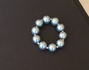 Silver Pearls  Bracelet by Dobka