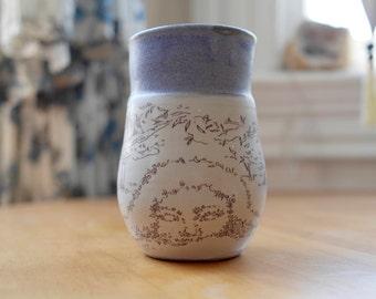 Hand-thrown Stoneware Ceramic Mug   Original Design   Fantasy Mother Nature   Hidden