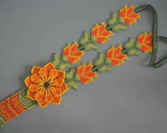 Beaded Necklace. Mexican style
