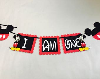 """Mickey Mouse inspired """"I Am One"""" banner"""