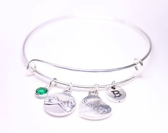 Christmas gift to sister, Gift to her, Pinky Swear Bangle, Pinky Promise Bracelet, Gift to sis, Gift for friend, Birthday gift for sister