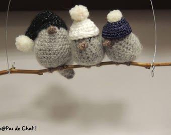 Patron PDF oiseaux décoratifs au crochet