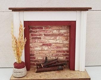 Miniature Fireplace, Dollhouse Fireplace, Dollhouse Furniture, Dollhouse Miniatures, Dollhouse Accessory, Miniature Furniture, Handmade