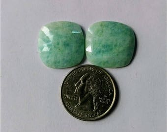 Amazonite Rose cut slice Pair/ Square shape rose cut slice pair/Cabochon Slice/natural Amazonite /Cabochon rose cut/Earring slice pair/loose