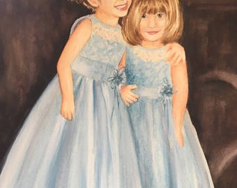 Custom Watercolor Portrait of Your Children