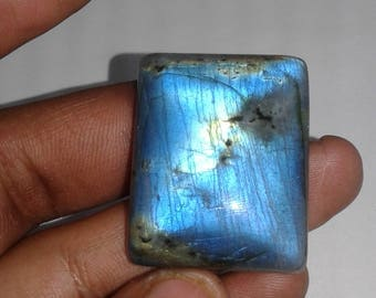 100% Natural Labradorite Gemstone With Blue Fire & AAA High Quality in a Low Price 91.60 Carat, Size 29X37X9 Code AZ005