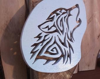 Wolf Maori - Sculpture wood - wall decor