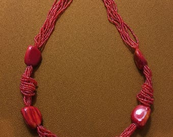 Handmade bead necklace for charity