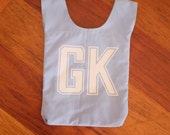 Light blue netball bib bag - reversible bag with lining - great team gift for netball lovers and netball players - custom available
