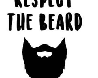 Respect the beard decal sticker Laptop Car Truck woods bearded villain man hair respect elder mustache ride label growth natural