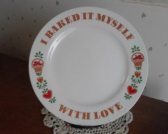 Baked With Love 1982 Avon Plate