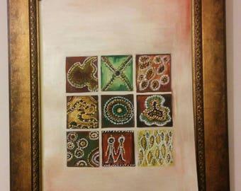 Abstract Painting Art Original Acrylic Painting