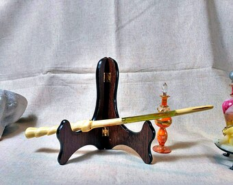 "Pinewood 12.6"" Handmade Wooden Magic Wand."
