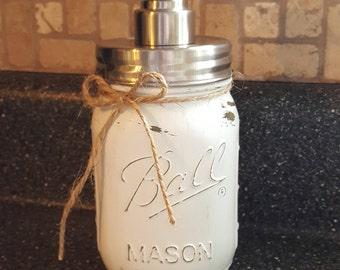 Mason Jar Soap Dispencer, Farmhouse Kitchen
