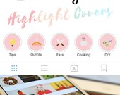 Instagram Stories Highlight Covers in Multi-Colour - Set of 20