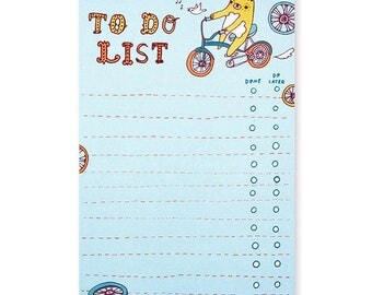 NOTEPAD - bear to do list notepad, to do list pad, task manager, task list, productivity planner, office supplies for women, office gifts