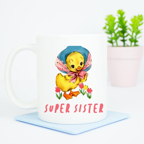 Super Sister mug, personalised lovely gift for any sister, lovely gift, the back can be personalised, best sister birthday gift