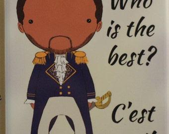 Marquis de Lafayette quote  original art magnet