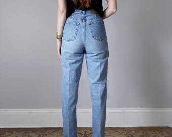 90s Express Bleus super high waist light denim cotton mom jeans