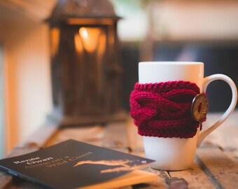 Christmas Coffee Sleeve, Coffee Mug Cozy, Christmas Coffee Cozy, Knit Cup Cozy, Coffee Cup Sleeve Tea Cozy Coffee Cup Cozy Coffee Mug Sleeve