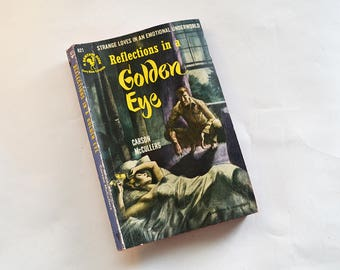 Vintage 1950 Reflections in a Golden Eye by Carson McCullers Pulp Fiction Paperback Bantam Book Edition First Printing
