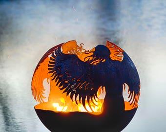 Hidden – Angel Fire Pit Sphere