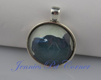 Black Cat Necklace - Black Cat Pendant - Black Cat Jewelry - Black Cat Charm - Halloween Cat - Halloween Necklace - Halloween Jewelry