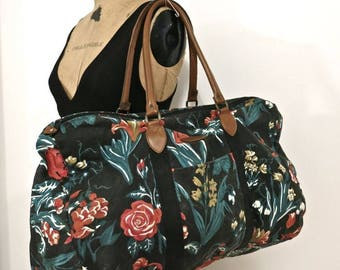 80s Canvas Weekend Overnight Bag - Great Large Lightweight Duffel