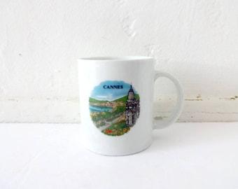 Vintage Souvenir of Cannes, France Mug