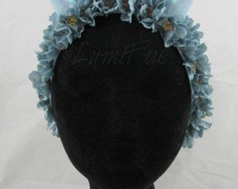 Flower Crown with Glitter Horns Headband