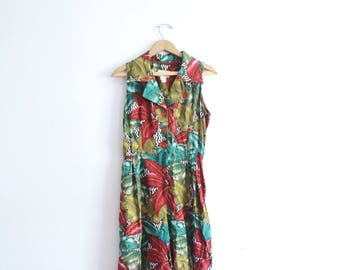 Tropical Floral 90s Romper