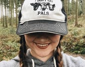 Vegan hat orignal  ' I dont eat Pals ' organic embroidered baseball cap