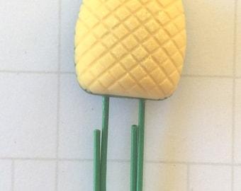 Pineapple Planner Clip, Summer Fruit Planner Pin, pineapple planner accessories, fruit Planner Paper Clip, cute food paperclip, summer clip