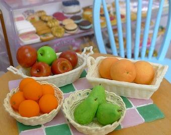 Miniature Various Fruits 1:6 scale Dolls Dollhouse Food apple, pear, grapefruit, orange, lemon, bananas, Whole Fruits