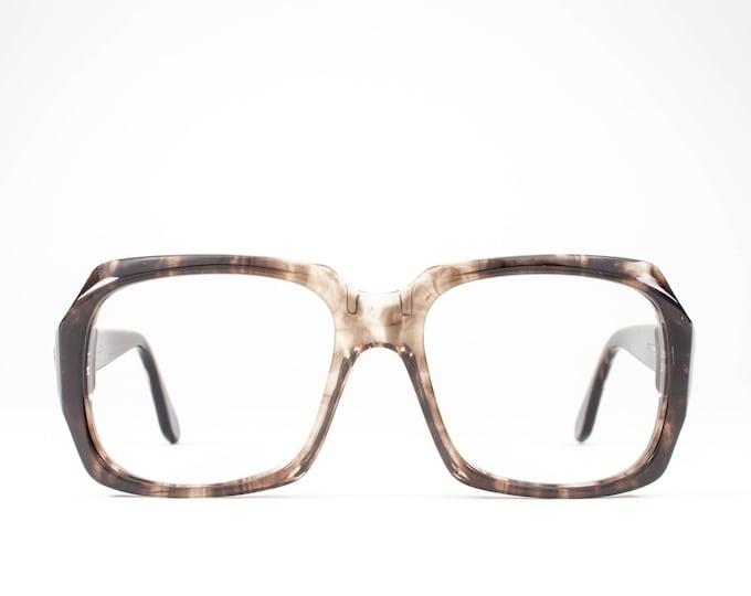 70s Eyeglasses | 1970s Vintage Glasses | Horn Rimmed Glasses Frames | Clear Brown Eyeglass | Seventies Deadstock Eyewear - Panama 1